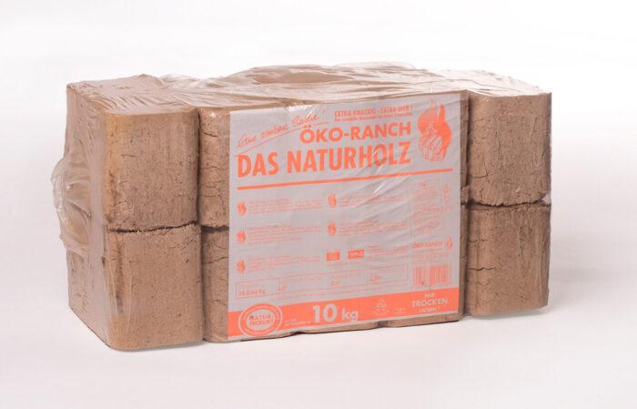 Holzbriketts, eckig, hell, Buche, Eiche