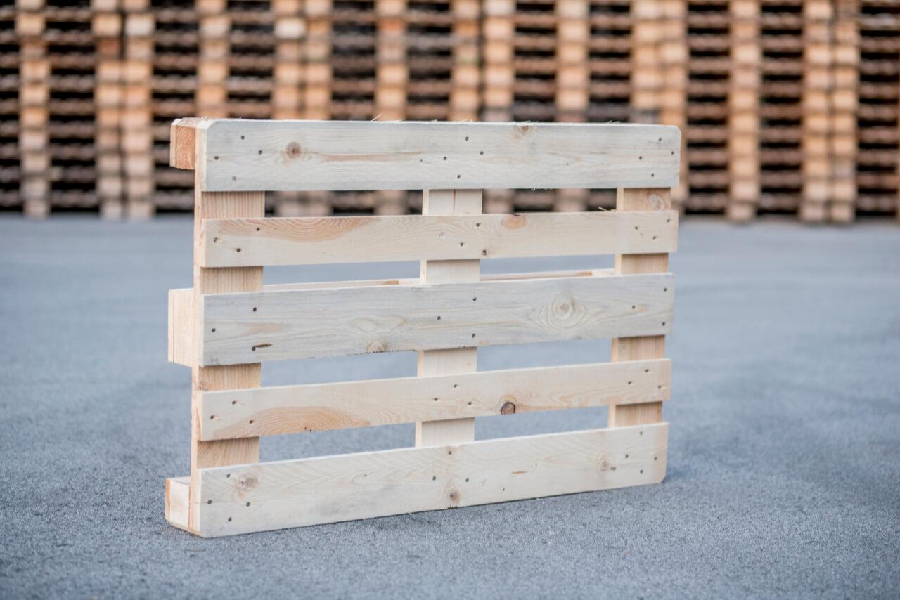 Holzpalette, A, hell, neu